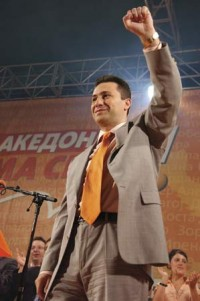 PM Gruevski claims landslide win in Macedonian elections