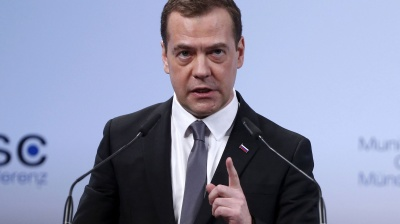 Russian Prime Minister Medvedev warns of new Cold War