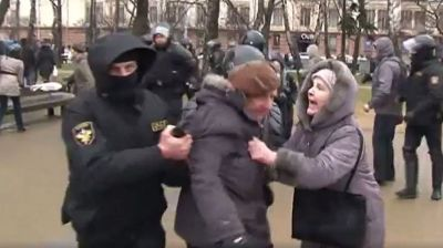 Belarusian authorities detain hundreds in 'Freedom Day' marches