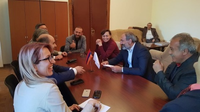 YEREVAN, Armenia | Armenian parliament votes against protest leader as new PM