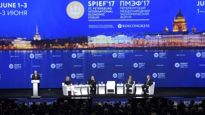 MOSCOW BLOG: Putin ebullient at St Petersburg forum as Russia revives