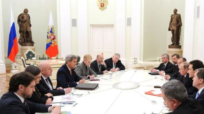 Kerry and Putin push for Syria truce at Moscow talks
