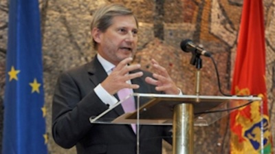 "EU pursues ""positive realpolitik"" in the Balkans, says Hahn"