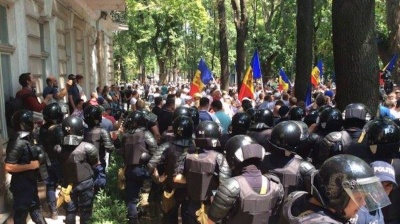 Moldova's new electoral law ignites street protests