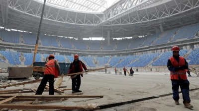 Construction workers abused at Russia's World Cup stadiums, rights watchdog claims