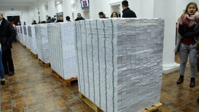 Installation shows scale of Moldova's $1bn bank fraud