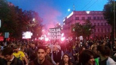 Belgrade protest march marks anniversary of Savamala demolitions