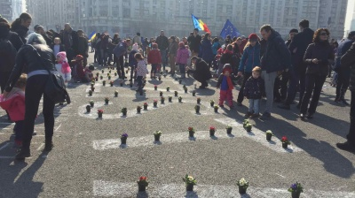 Bucharest children's protest defies official pressure