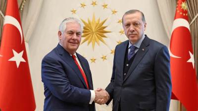 Tillerson gives little away after tough meetings with Turkey's Erdogan and PM