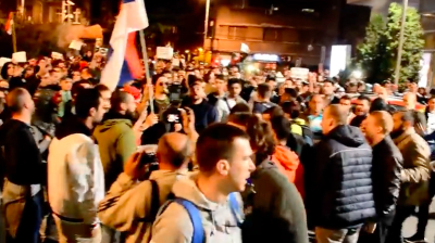 Anti-Vucic protesters in Serbia show sticking power