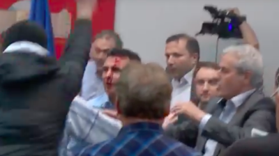 Macedonian interior ministry suspends 16 police officers over parliament storming