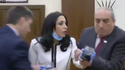 Yerevan city council descends into chaos as councillors brawl over sewage leak