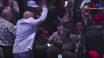 Violence breaks out as Erdogan's New York hotel speech is interrupted by hecklers