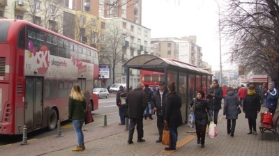 Europe's most polluted capital Skopje offers free bus transport