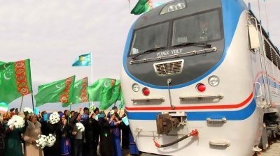 Turkmenistan builds railway line to Afghan border