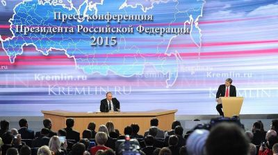 Russian colours don't run, Putin tells annual Q&A session