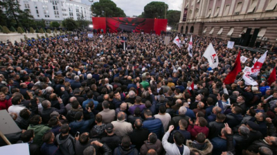 Albanian opposition protesters demand PM Rama's resignation