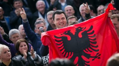 Albanian opposition leader charged with inciting violence