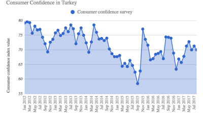Turkish consumer confidence falls in August