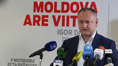 Socialist leader Dodon ahead in first round of Moldovan presidential election