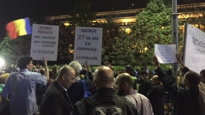 Anti-corruption protests erupt again in Bucharest