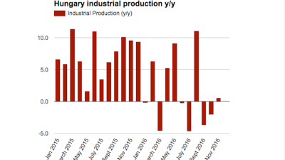 Hungarian industrial output mounts feeble recovery in November
