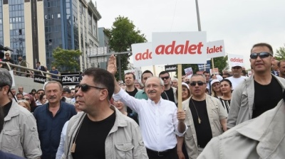 Turkish opposition leader sets out on 425km