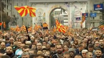 Up to 15,000 join opposition march in Macedonian capital