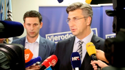 Croatia's HDZ and Most agree to form new government