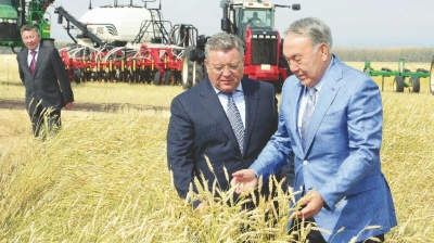 Kazakh farming flourishes as economy sinks