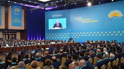 Nazarbayev tries to insulate ruling party against rising unpopularity