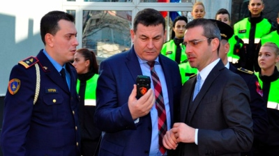 Albanian police wear body cameras to fight corruption