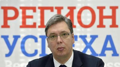 Serbia's ruling SNS to back Vucic as presidential candidate