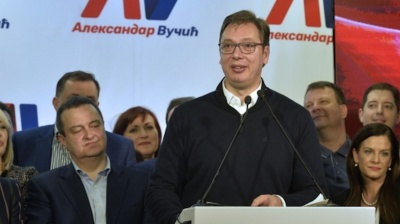 Serbian PM Vucic wins presidential elections in first round
